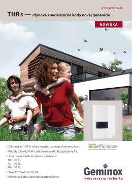 THR s — Plynové kondenzačné kotly novej generácie - Eko
