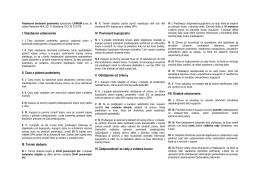 I. Všeobecné ustanovenia II. Cena a platové podmienky III