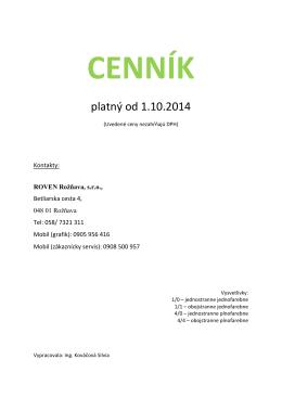 platný od 1.10.2014