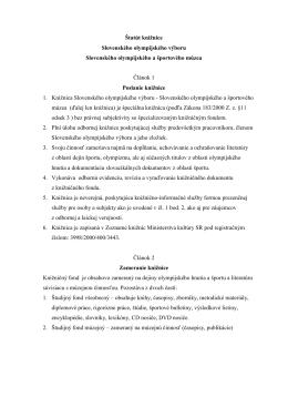 Štatút knižnice SOV