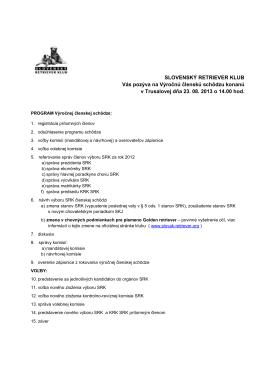pozvánka na členskú schôdzu a kandidačná listina