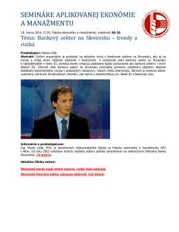 semináre aplikovanej ekonómie a manažmentu