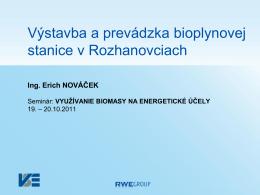 Ing. Erich NOVÁČEK