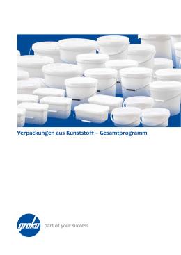 Verpackungen aus Kunststoff – Gesamtprogramm
