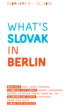 What`s Slovak in Berlin 2015 (newsletter .pdf download)