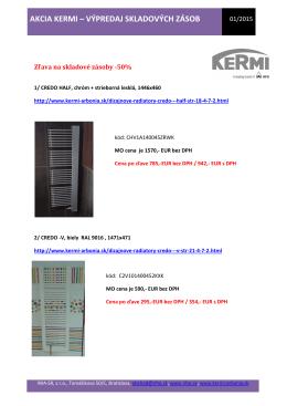 Výpredaj skladových zásob designových radiátorů