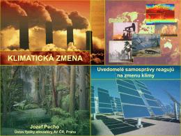 Zmena klímy, jej dopady a súvisiace riziká na Slovensku a v regióne