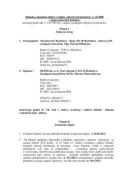 Dohoda o ukončení MEDMAK s r o  20112