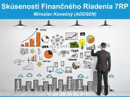 Skúsenosti finančného riadenia v projektoch 7. RP