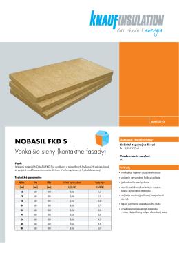 NOBASIL FKD S Vonkajšie steny (kontaktné fasády)