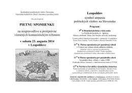PIETNU SPOMIENKU Leopoldov - Konfederácia politických väzňov