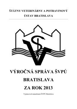 Výročná správa ŠVPÚ Bratislava za rok 2013