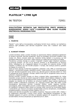 PLATELIA™ LYME IgM 96 TESTOV 72951 - Bio-Rad