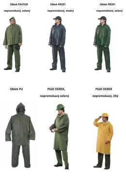 Oblek PU Plášť DEREK, Plášť DEREK nepremokavý zelený