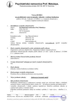 Výzva 03/2011 - Jednorazové meranie emisií