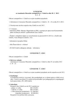 Uznesenie č.1 - 5 - 28. február 2013