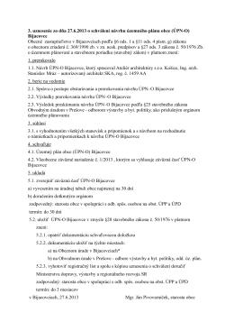 3. uznesenie zo dňa 27.6.2013 o schválení návrhu