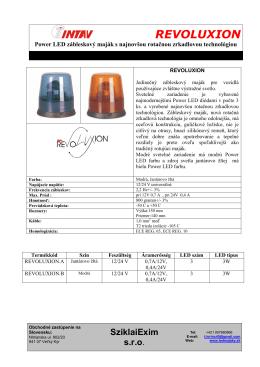 pdf informačný - Výstražné a svetelné zariadenie