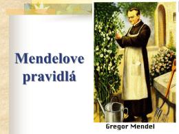 Mendelove pravidlá