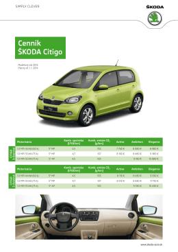 Cenník Škoda Citigo