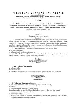 VZN č. 5/2014 o miestnych daniach a miestnom