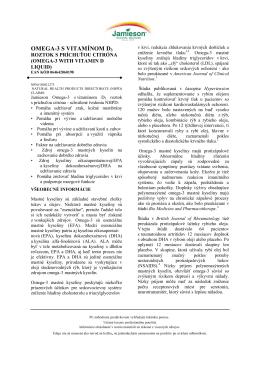 OMEGA-3 S VITAMÍNOM D3