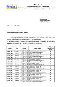 Objednávka priestorov na kurzy_1_Asterion
