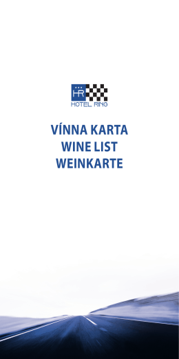 VÍNNA KARTA WINE LIST WEINKARTE
