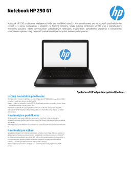 PSG Commercial Notebook 2012 Datasheet updated - HP