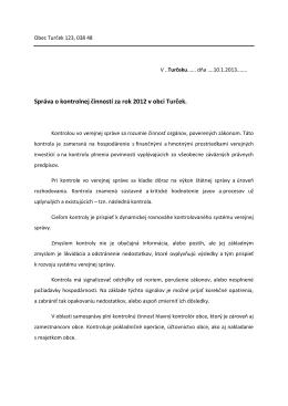 Správa HKO o kontrolnej činnosti za rok 2012_Ondrej