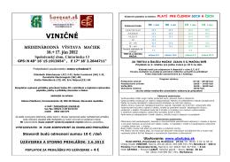 propozície 16-17.06.2012 SK+CZ - Lovecat chovatelia mačiek