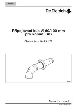 Pripojovací kus 60/100 mm pre komín LAS - Obalová