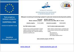 Realizácia projektu z fondov EU
