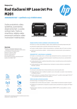 IPS Commercial MFP Datasheet M125a - HP