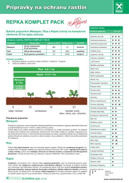 Prípravky na ochranu rastlín