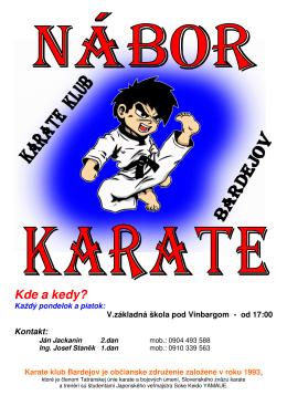 Nábor karate detí Bardejov