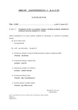 uznesenie č. 9
