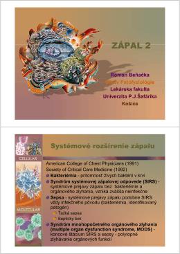 Syndróm systémovej zápalovej odpovede (SIRS)