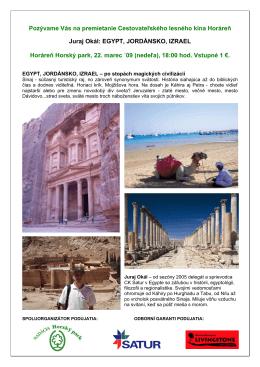 EGYPT, JORDÁNSKO, IZRAEL