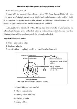Riadiace a regulačné systémy jazdnej dynamiky vozidla Systém