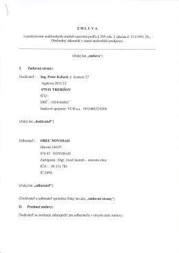 Zmluva o poskytnuti auditorskych sluzieb