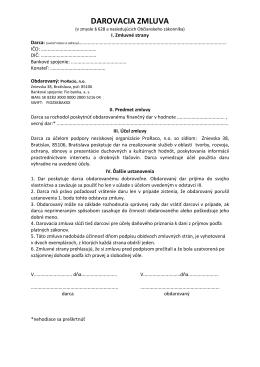 darovaciu zmluvu - Europskenoviny.sk