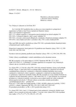 výkazy k 31 3 2013