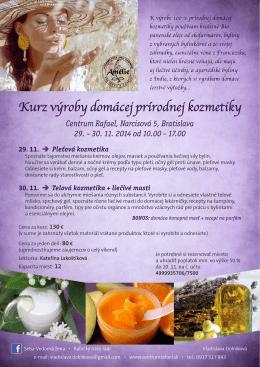 Kurz výroby domácej prírodnej kozmetiky