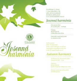 Jesenná harmónia Autumn harmony