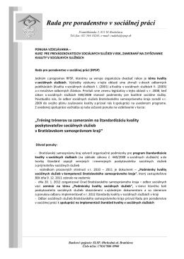 RPSP - ponuka vzdelavaci program