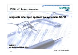 Integrácia externých aplikácií s FIS SOFIA