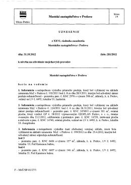 Mestské zastupitel`stvo v Prešove