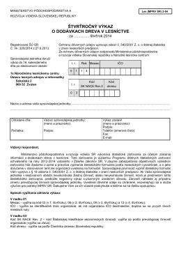 Les_MPRV SR_ 2-04 - Štatistický úrad SR