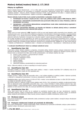 Mzdový doklad/mzdový lístok (L 17) 2015
